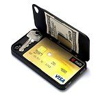 Slim Line Wallet Case for iPhone 4 4S with Space for Cards Cash Key | eBay