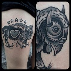 1000 ideas about bison tattoo on pinterest buffalo for Traditional bison tattoo