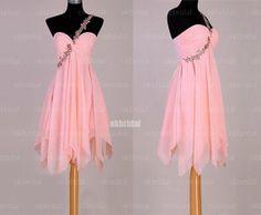 Pink prom dresses short pink dresses custom bridesmaid by okbridal, $126.00
