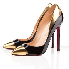 Louboutin Gold & Black
