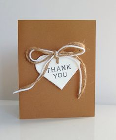 Thank you card with bow