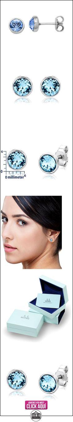 Miore Pendientes de mujer con plata de ley (925/1000), Cristal Swarovski  ✿ Joyas para mujer - Las mejores ofertas ✿ ▬► Ver oferta: https://comprar.io/goto/B00DVIED6A