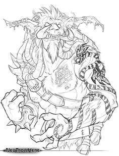 Lineart commission for guildmate Morgan of his Death Knight, Bartolme. His necrotic flesh was ridiculously fun. --Sak World of Warcraft © Blizzard Bartolme © his respective player Artwork. Adult Coloring, Coloring Books, Coloring Pages, Warcraft Art, World Of Warcraft, Death Knight, Mythology Tattoos, Wattpad, Troll