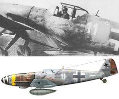 "Bf 109 G-10/U4 ""Rosemarie"" belonging to II./JG 52, photographed at Neubiberg airfield, 8th May 1945."