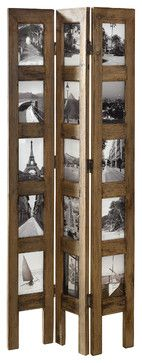 """Standing Panel - Photo-decorated (4""""x6"""") Privacy Screen & Room Divider #HD221922 rustic-picture-frames"""