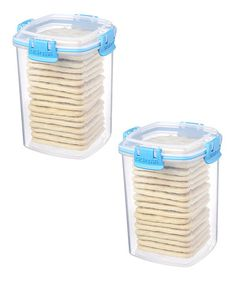 Loving This Blue Medium Cracker Container Set On #zulily! #zulilyfinds