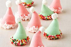 These JELL-O Santa Hat Cookies make a festive addition to the holiday dessert buffet—and they're as yummy as they are adorable!