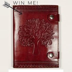 "This little #fairtrade beauty is available to win! Made from cruelty free leather (animals who passed from natural causes) and includes 100% recycled cotton tree-free paper. Refillable 5x7""! Here's what you need to do: FOLLOW @labellavitajournals REPOST tag us in the pic @labellavitajournals and #treeoflife. TAG a friend for an additional entry!! Winner announced this weekend!  If your account is private let me know in the comments if you enter! Intl s/h additional. Good luck…"