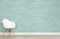 Who ever said a child's bedroom can't be stylish? Add a splash of soft colour to your child's room with our dreamy Kids Teal Clouds Wallpaper Mural. This design features a plain and simple teal background with cartoon illustrations of fluffy white clouds on top. This mural will put your child in a blissful mood...  Read more »