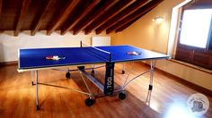 Mesa de ping pong 🎾 Ping Pong Table, Aurora, Villa, Furniture, Home Decor, Rural House, Vacations, Mesas, Decoration Home