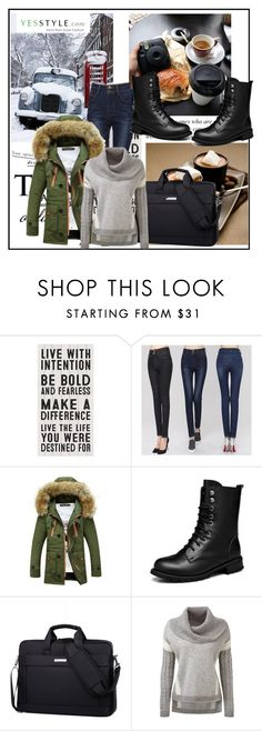 """""""yesstyle - 10% off coupon"""" by ajsajunuzovic ❤ liked on Polyvore featuring Arroba, yesstyle and winteressentials"""
