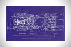 Batmobile Blueprints 1