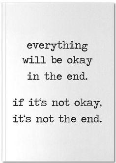 Everything will be okay - Eulenschnitt - Premium Notizbuch