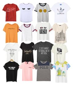 """""""Adorable Graphic Tees"""" by rileyjtuckmantel ❤ liked on Polyvore featuring Chicnova Fashion, adidas Originals, MANGO, Uniqlo, H&M, Banana Republic, WithChic, Gap and Ralph Lauren"""