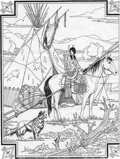 Indian Horse Coloring Sheets Horse Coloring Pages coloring