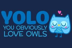 "You Obviously Love Owls- The only acceptable time to use ""YOLO""."