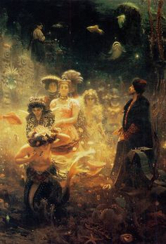 ♒ Mermaids Among Us ♒ art photography paintings of sea sirens & water maidens - Ilya Repin | Under the Sea