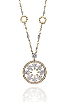 Rose gold and brilliant cut diamond pendant, as part the Boodles 'Circus collection.