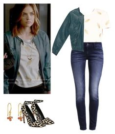 """""""Aria Montgomery - pll / pretty little liars"""" by shadyannon ❤ liked on Polyvore featuring Maje, Levi's and Alice + Olivia"""