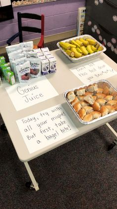 State testing week in third grade... Starting their first morning off right with some brain boosting snacks!