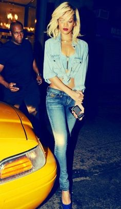 RiRi rockin' the denim