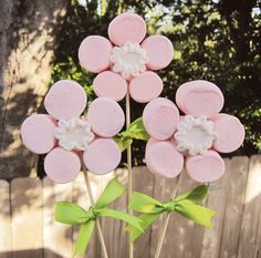 Marshmallow Flower Pops