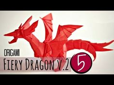 (5/5) How to make an origami Fiery Dragon v.2 - YouTube