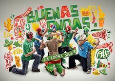 Buenas Ondas est un groupe de musique Belge aux multiples influences. Leur musique évolue dans le reggae ska, funky rap latino mais se différencie surtout par une énergie positive qu'ils savent transmettre en live. Atelier Design a réalisé pour eux toute une série de supports originaux : pochette CD, T-shirts, affiches.