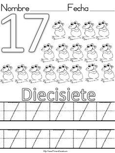 Fichas de grafomotricidad y lectoescritura con números del 1 al 20 Fichas para trabajar la lectoescritura con los números-