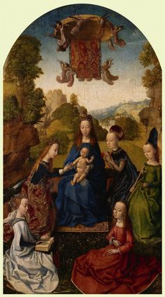 1480s Follower of Hugo van der Goes - Virgin and Child with Saints
