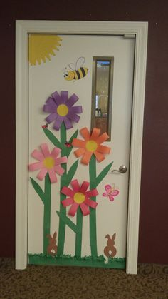 Springtime door I made for my residents in memory care. - Springtime door I made for my residents in memory care. – Springtime door I made for my residents in memory care. Class Decoration, School Decorations, Spring Crafts For Kids, Art For Kids, Preschool Crafts, Easter Crafts, Spring Door, Classroom Decor, Paper Flowers