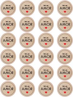 Feito com Amor Printable Labels, Printables, Lettering Tutorial, Valentines Diy, Planner Stickers, Diy And Crafts, Templates, Instagram, Packaging