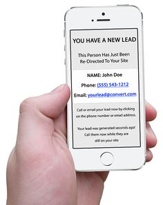Order Real Time Redirected Leads — Redirected Leads With SMS Notification