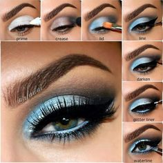 Eye makeup can improve your attractiveness and help to make you look and feel magnificent. Find out the correct way to apply make-up so that you may easily show off your eyes and impress. Uncover the best ideas for applying make-up to your eyes. Makeup For Green Eyes, Blue Eye Makeup, Eye Makeup Tips, Love Makeup, Eyeshadow Makeup, Beauty Makeup, Hair Makeup, Makeup Ideas, Makeup Trends