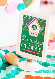 modern bird baby shower ideas