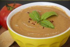 Creamy Basil Tomato Soup #raw #vegan