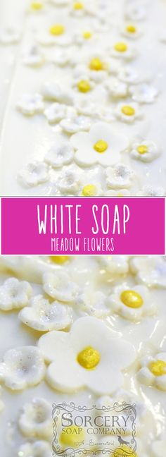 Meadow Flowers with a touch of Rosemary - cold process soap | http://sorcerysoap.com