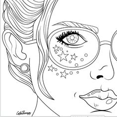 Adult Coloring Pages Punk Girl 3 Coloring Color