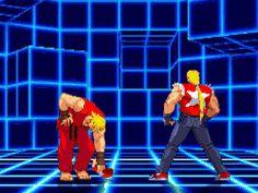 gif gaming edit game pixel Street Fighter terry bogard Fatal Fury capcom vs snk 2 Ken Masters