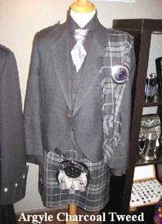 Argyle Charcoal Tweed Jacket