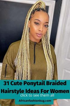 Cute Ponytails, Simple Ponytails, Ghana Braids, Types Of Braids, Braided Hairstyles For Black Women, Braided Ponytail, Braid Styles, Pretty Cool, Hair Trends