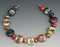 sjc lampwork 19 handmade dichroic u0026 silver glass tab u0026 donut beads sra usa