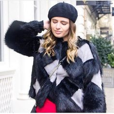 Looking pretty in the street for fashion week @jane_aus10. ❤️  Zynni cashmere jacket. ••Shop at zynnicashmere.com••