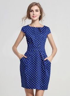Items similar to blue dress spring summer dress women dress clothing party dress large size dress plus dress office dress on Etsy Simple Dresses, Cheap Dresses, Nice Dresses, Casual Dresses, Fashion Dresses, Vestidos Vintage, Vintage Dresses, Chiffon Dress, Dress Skirt