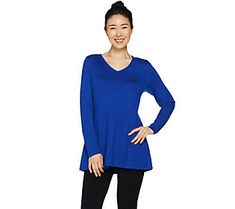 Susan Graver Modern Essentials Rayon Nylon A-Line Sweater