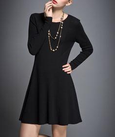 Easy Style Wool Knit Dress-zenb.com SKU aa0408