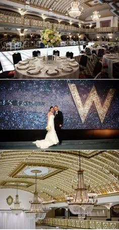 gorgeous wedding at the Crystal Ballroom at the Chicago Millennium Knickerbocker Hotel. my dream.