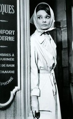 Audrey Hepburn sur le tournage du film Breakfast at Tiffany's en 1961