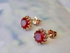 Earrings Studs Ruby Gemstone Stud Earrings Gold Plated Ruby Studs Women's Jewelry Ruby Red Studs Bridal Jewelry Stud Ruby Accessories THREE DAY SALE Gemstone Stud Earrings/ Gold Plated Ruby Studs / Women's Jewelry / Birthday Gift / Bridal Jewelry / Ruby Jewelry, Bridal Jewelry, Gold Jewelry, Women Jewelry, Bridal Necklace, Ruby Earrings, Cheap Jewelry, Diamond Jewelry, Jewelry Sets