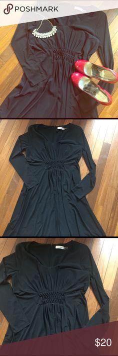 Black dress zipper back flats
